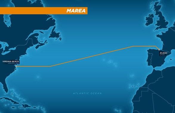 Un megacable de Microsoft y Facebook cruzará el Atlántico desde EE UU hasta Bilbao