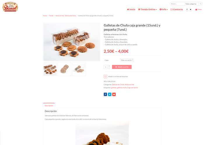 Horchateria Daniel página web