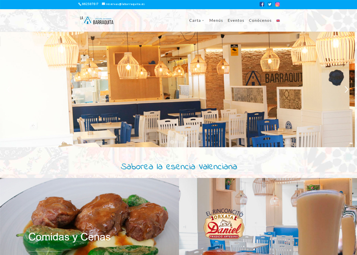 Restaurante La Barraquita página web