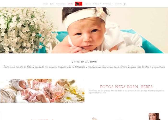 Página web FotoEstudioNieves