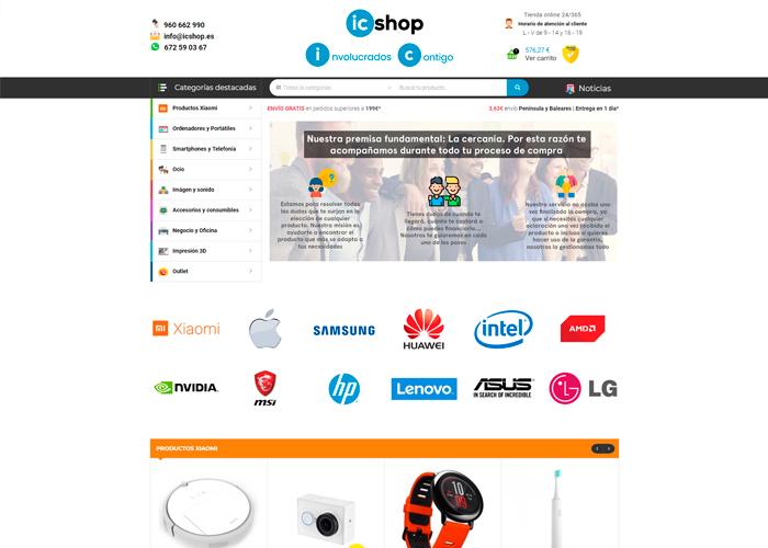 Tienda online de tecnología IcShop página web