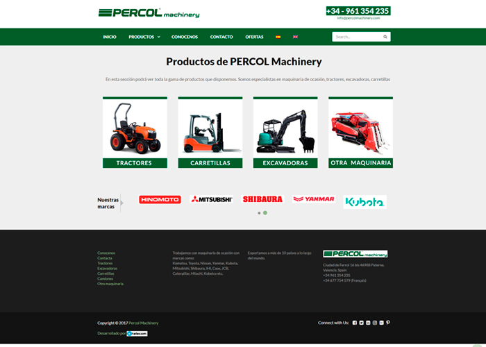PercolMachinery página web
