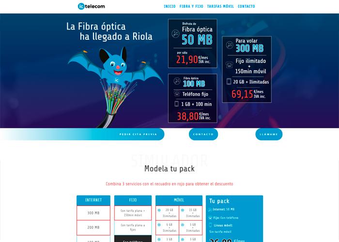 FibraRiola página web